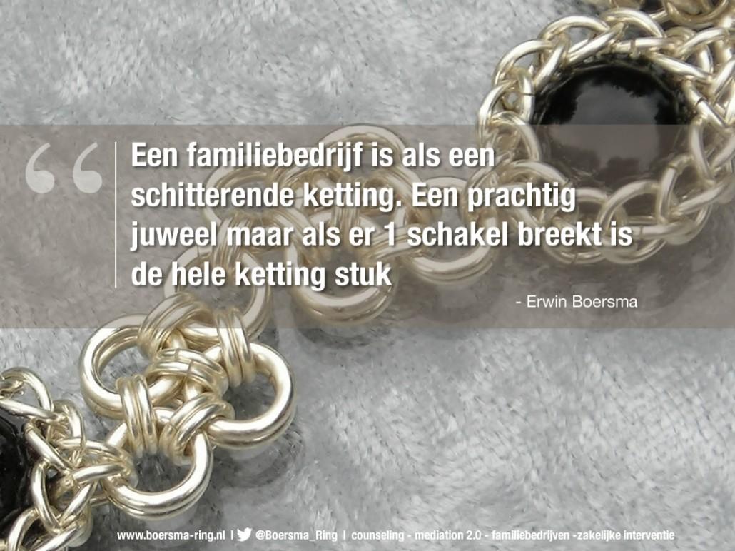 Erwin Boersma - quote over familiebedrijven