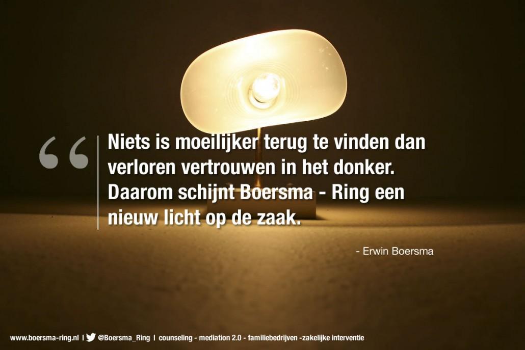 Erwin Boersma - quote over verloren vertrouwen
