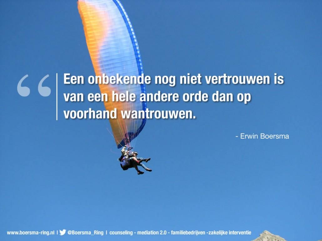 """Erwin Boersma: """"Een onbekende nog niet vertrouwen is van een hele andere orde dan op voorhand wantrouwen."""""""