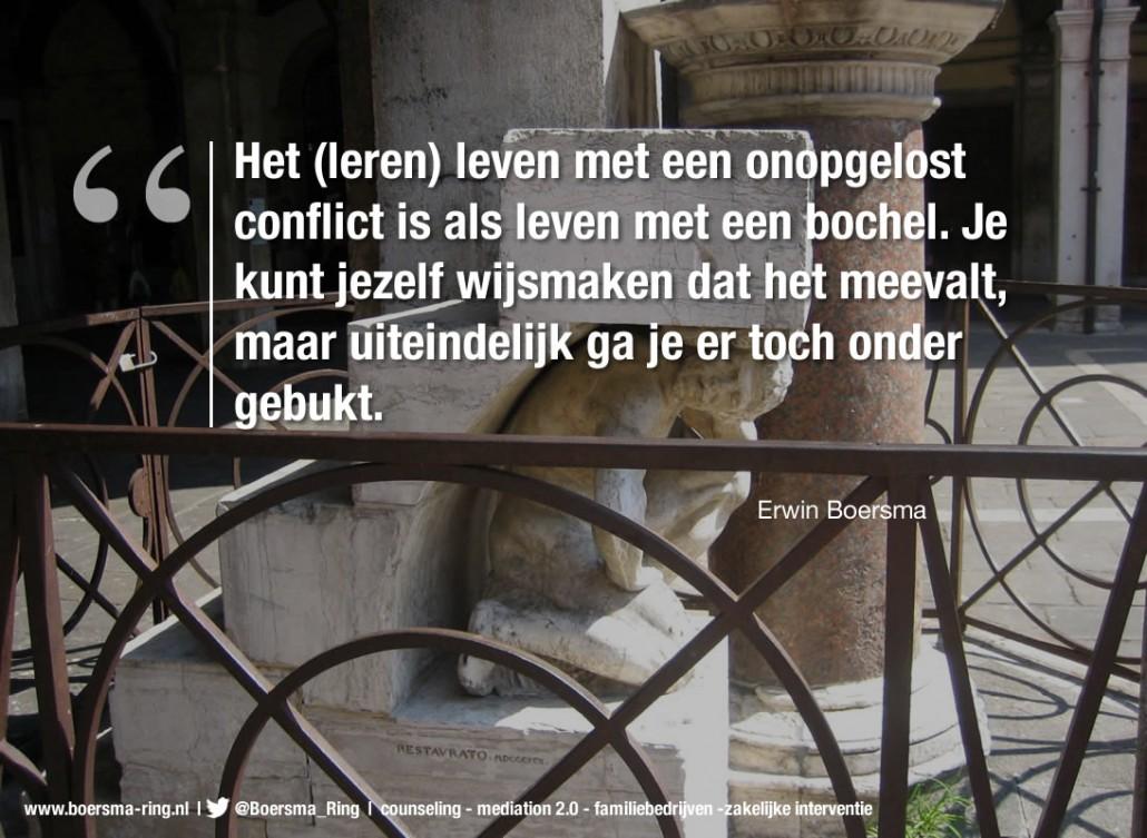 Boersma Ring quote over leven met onopgeloste conflicten